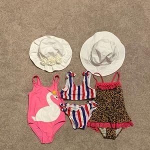 Toddler girls 2T bathing suit bundle